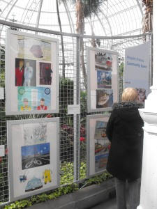 A wide range of artworks were on show