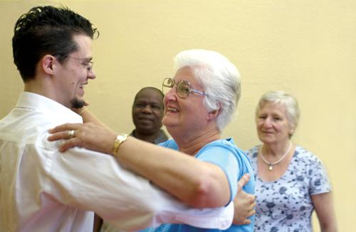 Older person dancing