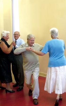 Older couple dancing