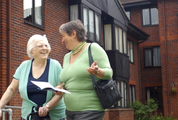 Ladies walking down the street