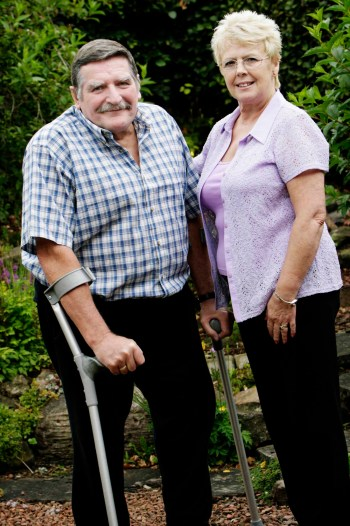 Osteoporosis has reduced John's height but he gets much help and support from NOS.