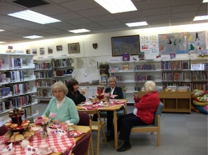 Older people enjoy company at Boddam Library
