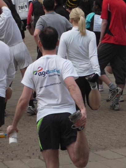 Meadows Marathon runner 2011 - fundraising for Age Scotland