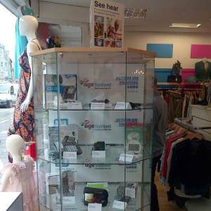 Assisted Living Technology on display at Age Scotland's Nicolson Street Shop.