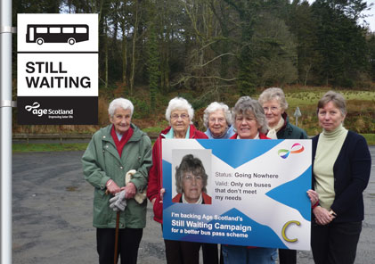 Carradale & District Seniors Group campaign for a better bus pass