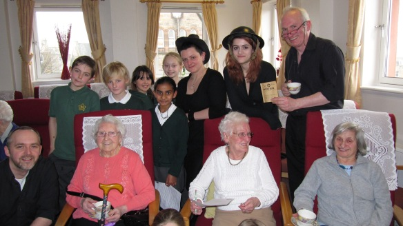 Pupils from St Mary's Primary and residents of Hermitage Court