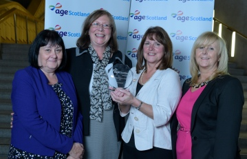 NHS Lanarkshire won our newest award - the Older Person's Employer of the Year