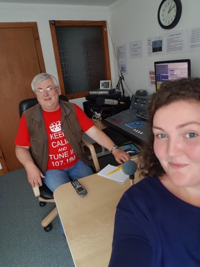 Selfie with Lewis the radio host!