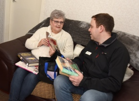 Marion and Dave discussing their latest reading